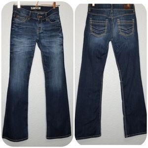 BKE Culture Dark Wash Distressed Bootcut Jeans 26